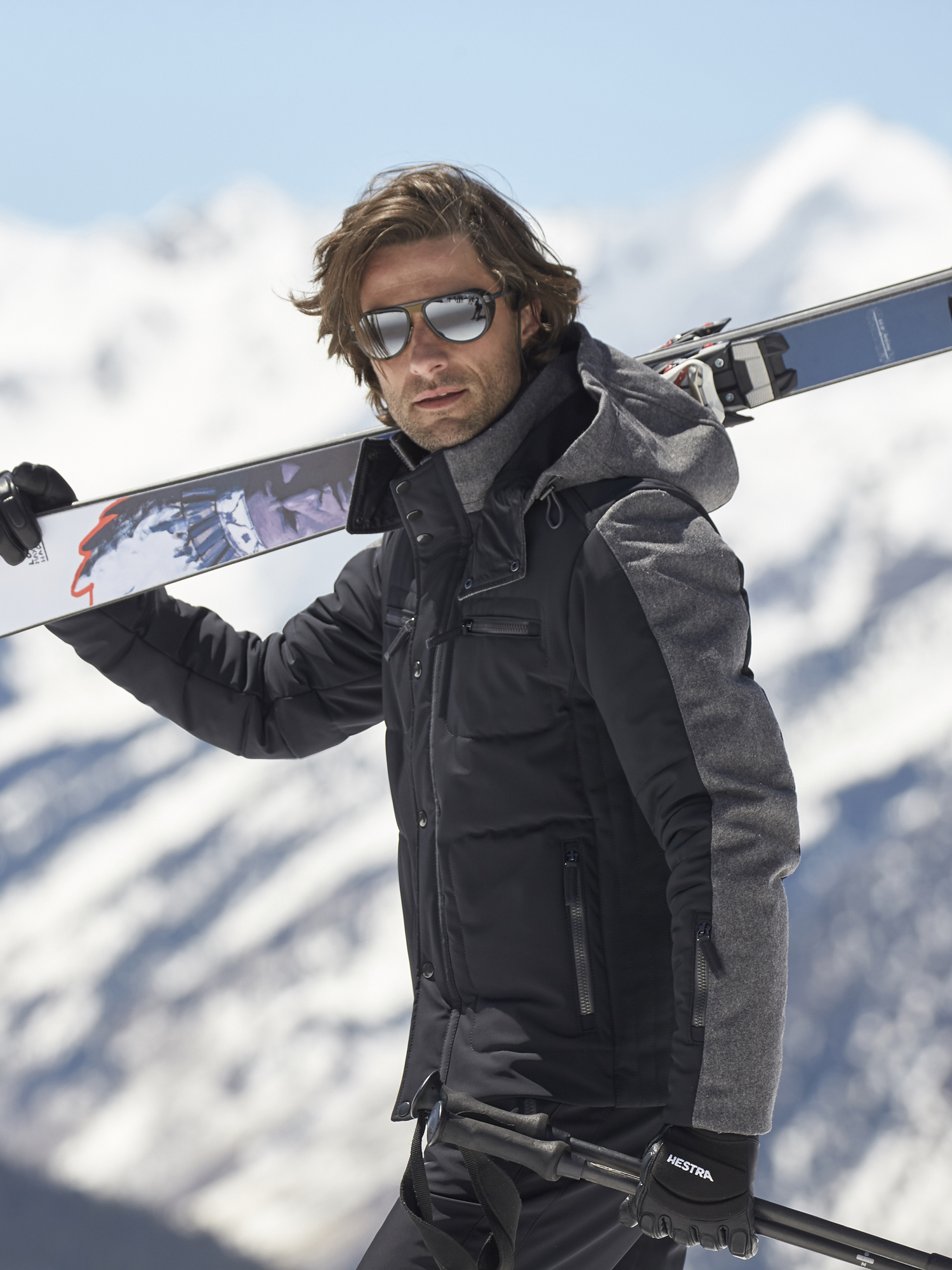 Blue One Size Neck Tie Italian Mens Jet Ski Water Sports Skiing Necktie