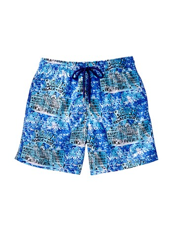 morea bear palace print swim shorts