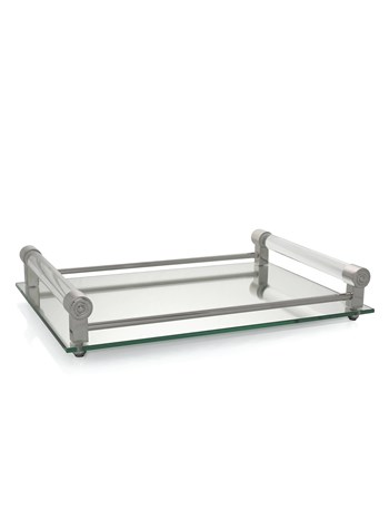 coco mirrored bar tray