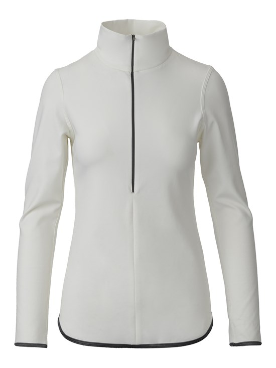 chloe stretch quarter zip turtleneck