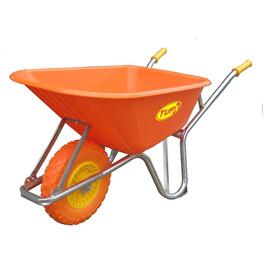 6 Cu. Ft Plastic Tray Wheelbarrow, with Flat Free Tire thumb