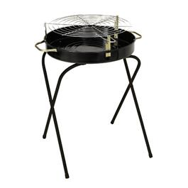 210 sq. in. Black Charcoal Barbecue With Folding Legs thumb