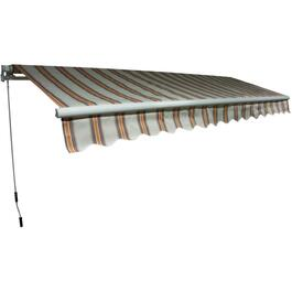 13.2' x 10' Beige Stripe Rollout Awning thumb
