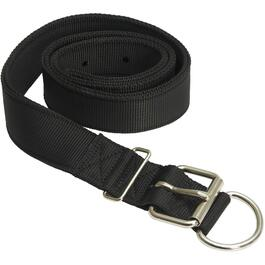 Double Ply Black Nylon Cow Collar thumb