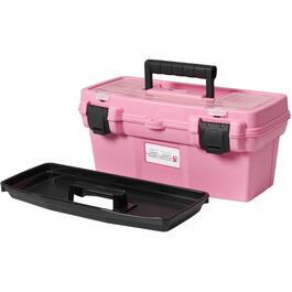 "15.9"" x 8.1"" x 7.2"" Pink Tool Box, with Tray thumb"