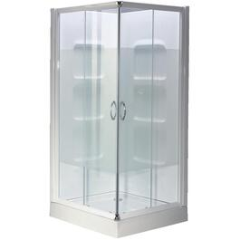 "32"" White Acrylic Corner Shower Cabinet thumb"