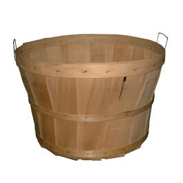 Wooden Bushel Basket, with Handles thumb