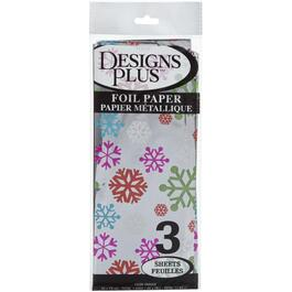 3 Sheets Foil Tissue Paper, Assorted Designs thumb