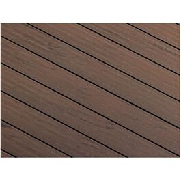 "1"" x 5-1/8"" x 12' AccuSpan Variegated Ash Grey Grooved Edge Deck Board thumb"