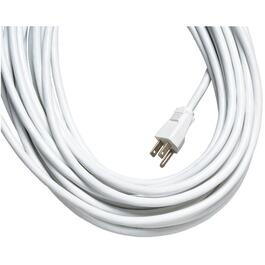 10M 1Outlet SJTW 16/3 White Extension Cord thumb