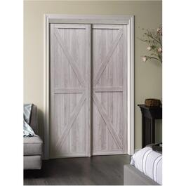 "48"" x 80"" Silver Oak Trident Sliding Door thumb"