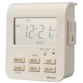 2 Outlet Weekly Digital Timer, with 3 Conductors thumb