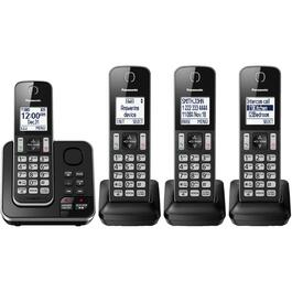 4 Pack Dect 6.0 Cordless Answerphones thumb