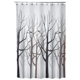 "72"" x 72"" Forest Grey/Black Polyester Shower Curtain thumb"
