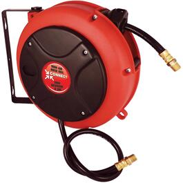 "Retractable Hose Reel, with PVC 1/4"" x 27' x 1/4"" Male National Pipe Thread Hose thumb"