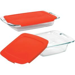 4 Piece Glass Easy Grab Oblong/Square Baking Dish Set thumb