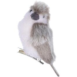 "3.5"" Clip-On Fuzzy Bird Ornament, Assorted Head Movement thumb"