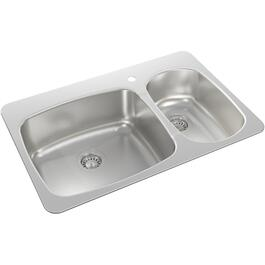 "31"" x 20 1/2"" x 8 1/8""  Stainless Steel Drop In Kitchen Sink thumb"