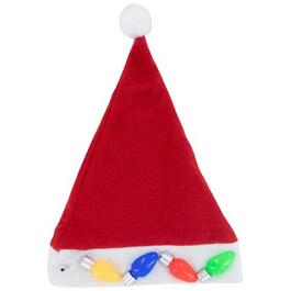 Light Up Plush Santa Hat thumb