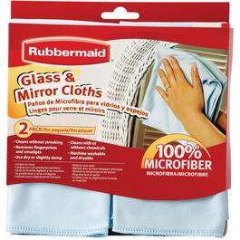 2 Pack Microfibre Glass and Mirror Cloths thumb