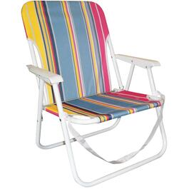 Folding Stripe Beach Chair thumb