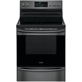"30"" Black Stainless Steel Self Cleaning Smooth Top Electric Range thumb"