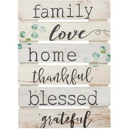 "17"" x 24"" Family Love Wall Plaque thumb"