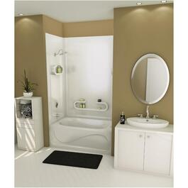 "80"" Parisienne White Tub Wall thumb"
