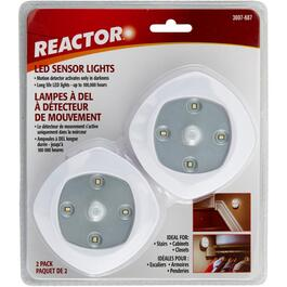 2 Pack Battery Operated LED Puck Lights, with Motion Sensor and Batteries thumb