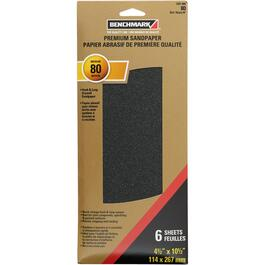 "6 Pack 4.5"" x 10.5"" 80 Grit Silicon Drywall Sandpaper thumb"