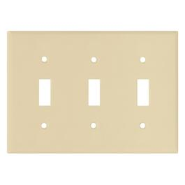 Ivory 3 Toggle Switch Plate thumb