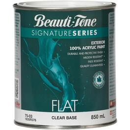 870mL Flat Finish Clear Base Exterior Latex Paint thumb