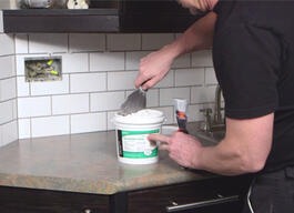 Here's How to install a tile backsplash. thumb