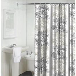 "70"" x 72"" Enchanted Tan Polyester Shower Curtain thumb"