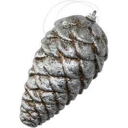 180mm Foam Silver Pinecone Ornament thumb