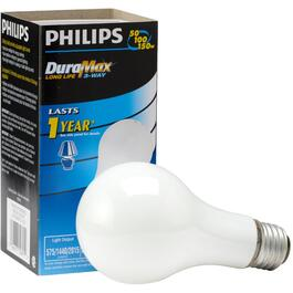 50/100/150W A21 Medium Base Soft White Trilight Light Bulb thumb