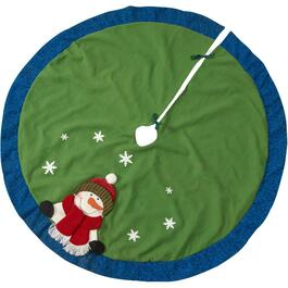"48"" Snowman Tree Skirt, Assorted Colours and Designs thumb"