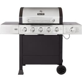 5 Burner + 1 Side Burner 661 sq. in. 60,000BTU Stainless Steel Black Propane Barbecue thumb