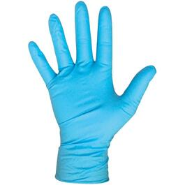 100 Pack Large Blue 4mm Nitrile Gloves thumb
