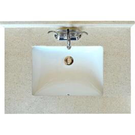 "37"" x 22"" Latte Marble Vanity Top with Rectangular Bowl thumb"