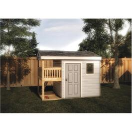 12' x 8' Storage Shed Playhouse Package, with All Options thumb