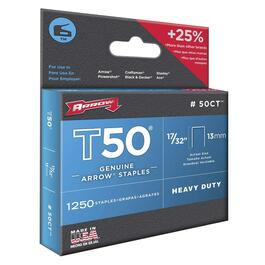 "1250 Pack 17/32"" Ceiling Tile Staples, for T50 Stapler thumb"