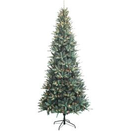 9' Blue Spruce Christmas Tree, with 550 Clear LED Lights thumb