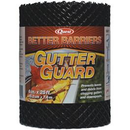 "6"" x 25' Black Poly Gutter Guard thumb"