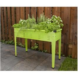 "49.5"" Metal Green Raised Garden Planter thumb"
