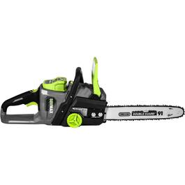 "58 Volt 14"" Cordless Chainsaw, with Lithium Battery thumb"