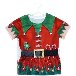 Girls Ugly Elf Christmas T-Shirt, Assorted Sizes thumb