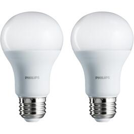 2 Pack 15W A19 Medium Base Soft White Non-Dimmable LED Light Bulbs thumb