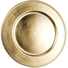 "13"" Gold Charger Plate thumb"