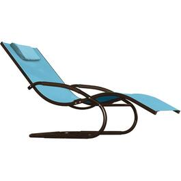 Ocean Blue Aluminum Wave Chaise Lounge thumb